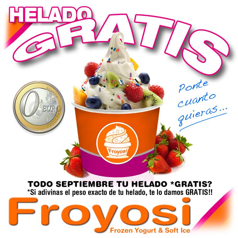 Helado Gratis en Froyosi